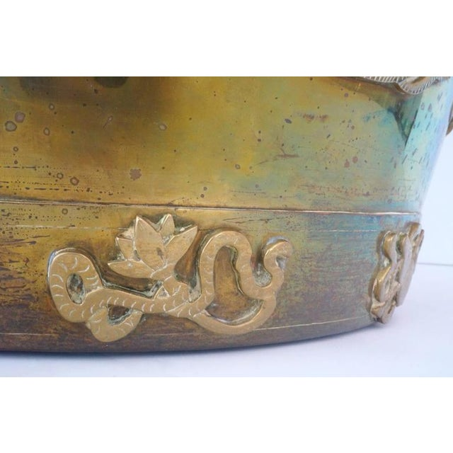 Hollywood-Regency, Brass Garden Stool / Side Table, Asian Motif with a Removable Lid - Image 10 of 10