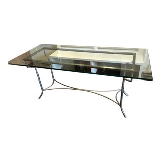 Contemporary Steel & Glass Dining Table
