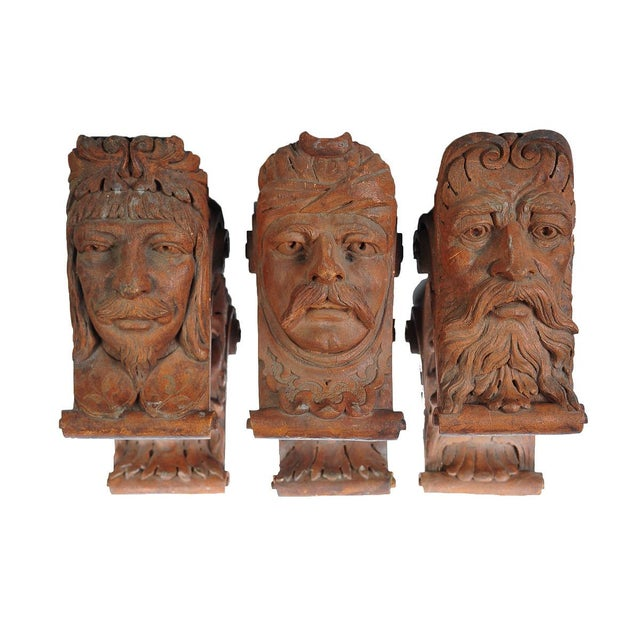 Terracotta Knights Heads - Set of 6 Corbels - Image 1 of 8
