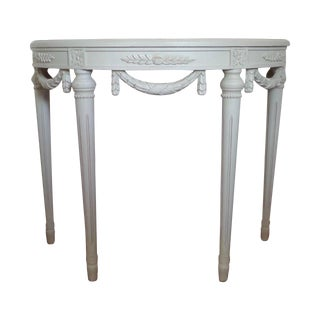 Swedish Gustavian Style Demi-Lune Table