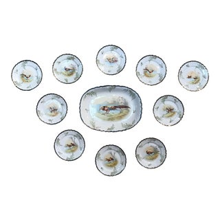 Antique Imperial Crown China With Platter - Set of 10