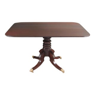 19th C Jamaican Regency Mahogany Tilt Top Breakfast Table