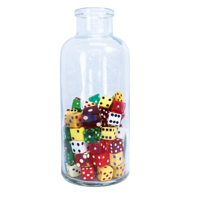 Image of Vintage Dice Bottle