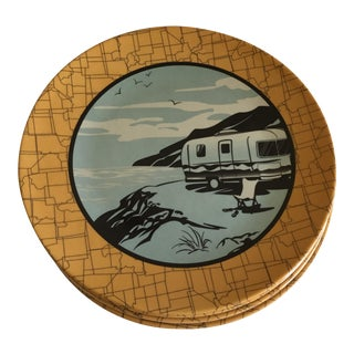 Retro Melamine Camping Plates - Set of 8