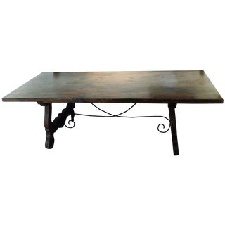 Antique Baroque Large Harvest Table