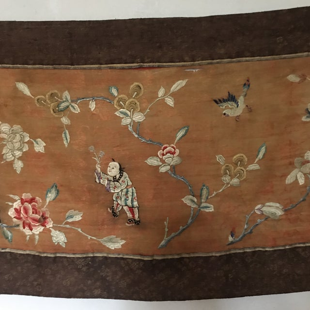 Tapestry - Chinese Vintage Silk - Image 2 of 8