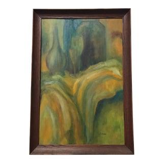 Original Mid-Century Framed Painting