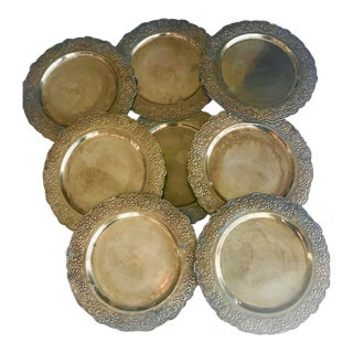 Brass Botanical Embossed Chargers - Set of 8