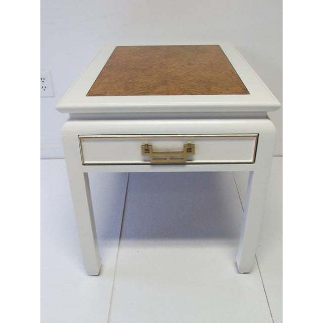 Century Burl-Wood & Lacquered Side Table - Image 3 of 6