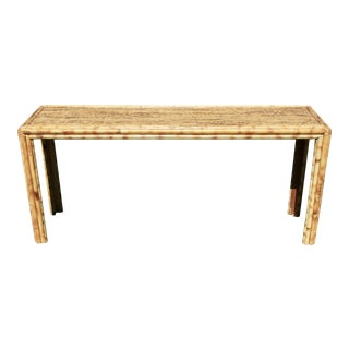 Burnt Bamboo Console Table or Slim Writing Desk
