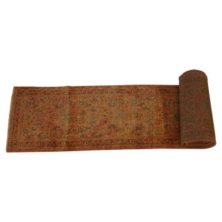 "Persian Orange Sarouk Runner Rug - 2'6"" x 27'"