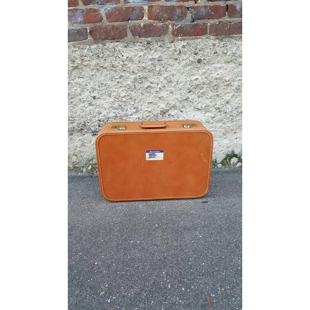 1950's Leather Suitcase Trunk - Image 2 of 5