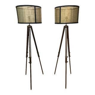 Pair of Antique Surveyor Floor Lamps