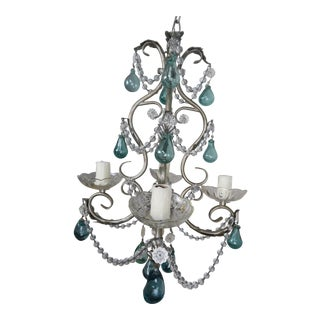 Hand Blown Glass Drop Chandelier