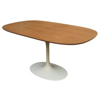 Oval Mid-Century Modern Dining Table