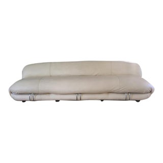 Tobia Scarpa Sofa Faux Cream Leather