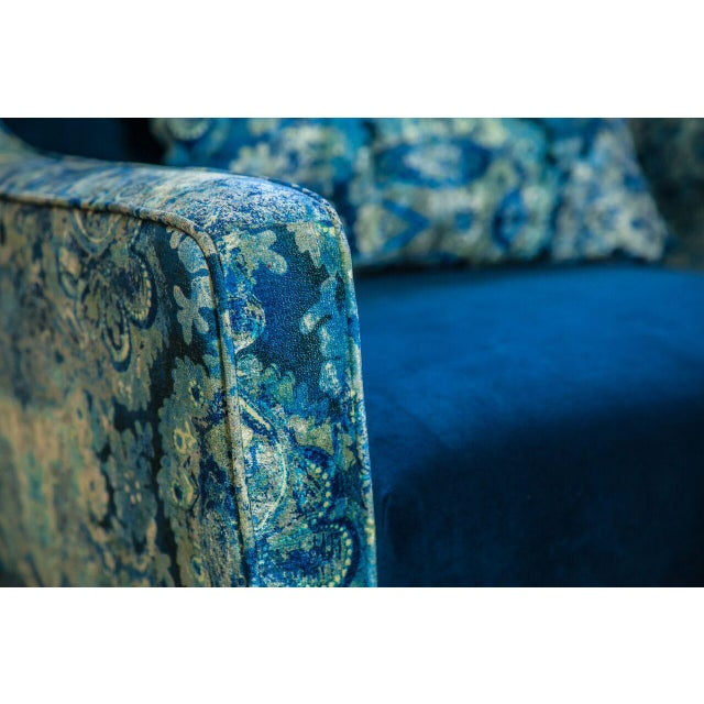 Image of Charles Blue Mixed Media Armchair