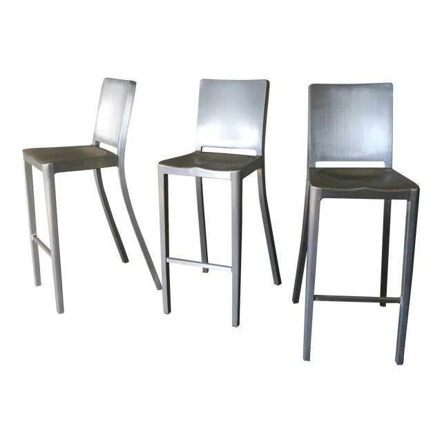 Philippe Starck for Emeco Hudson Bar Stools - Set of 3 - Image 1 of 10