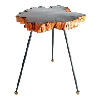 Organic Cypress Tree Slab Tripod Table