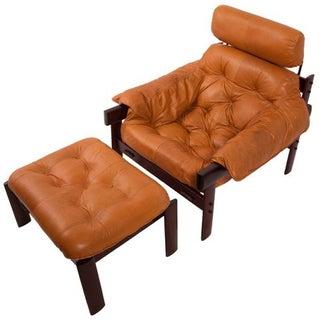 Percival Lafer Lounge Chair w/ Headrest & Ottoman