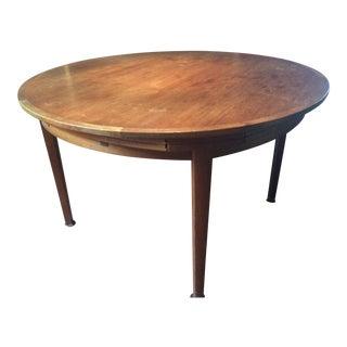 Dyrlund Mid-Century Danish Lotus Teak Dining Table