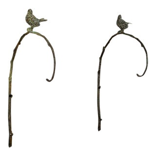 Pair of Bronze Wall Hanging Sconces