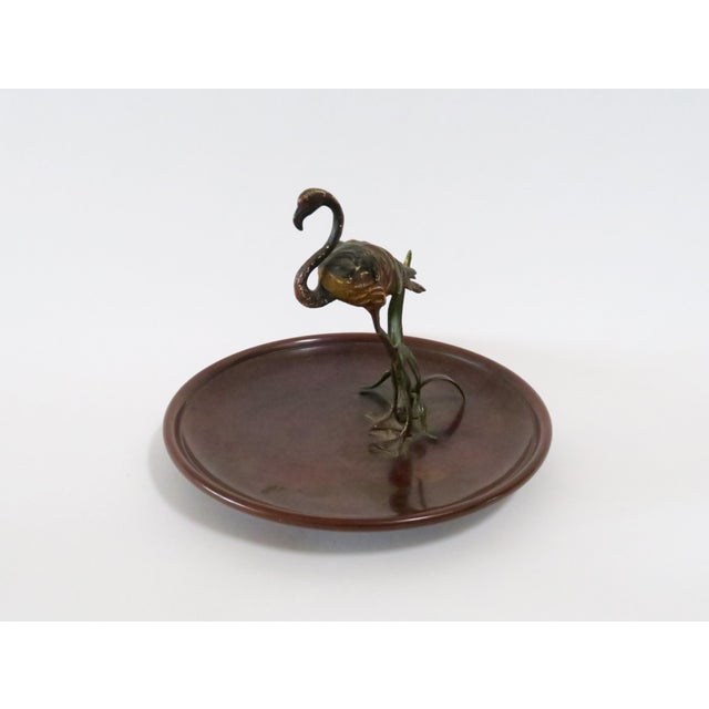 Flamingo Accented Metal Dish - Image 4 of 7