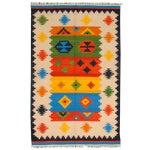 Image of Apadana -Primary Colors 4 x 7 Multicolor Kilim Rug
