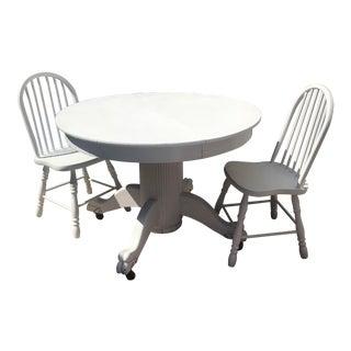 Shabby Chic White Dining Set