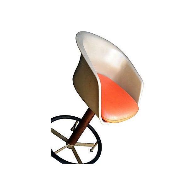 Saarinen Style Swivel Bar Stool By Burke - Image 3 of 6