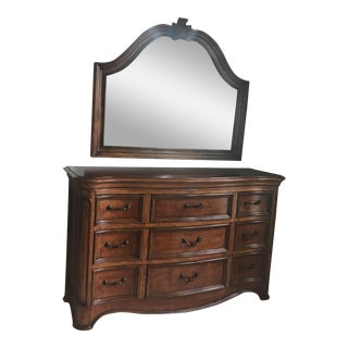 Hooker Furniture Chest of Drawers & Mirror - A Pair