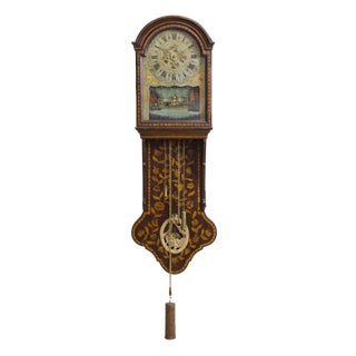 Marquetry Freisland Clock with Automata