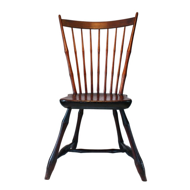 Image of Primitive Country Sheraton Windsor Chair