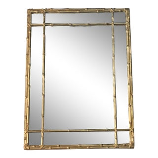 Vintage Faux Bamboo Gold Wall Mirror