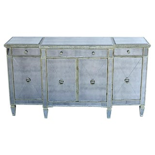 Neoclassical Mirrored Parcel Gilt Credenza