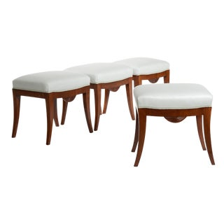 Set of Four Swedish Karl Johan Stools