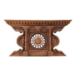 Carved Wood Architectural Pediment