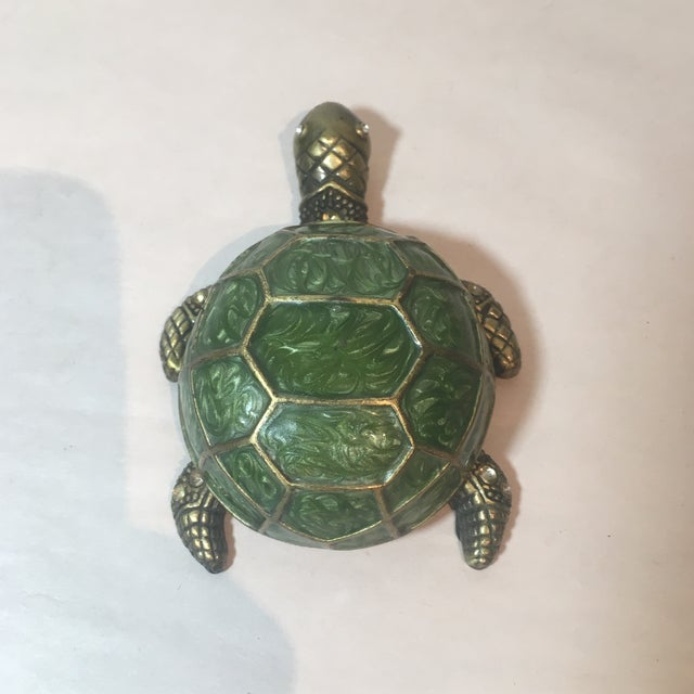 Brass & Green Turtle Votive Candle Holder - Image 9 of 9