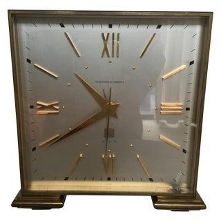 Art Deco Inspired Brass Spaulding and Co. Clock