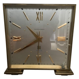 Art Deco Inspired Brass Spaulding and Co. Clock
