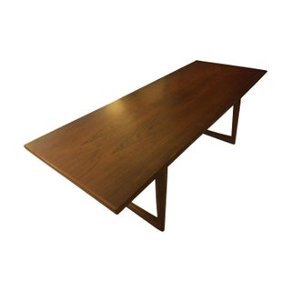 Mid-Century Danish Rosewood Sleigh Coffee Table