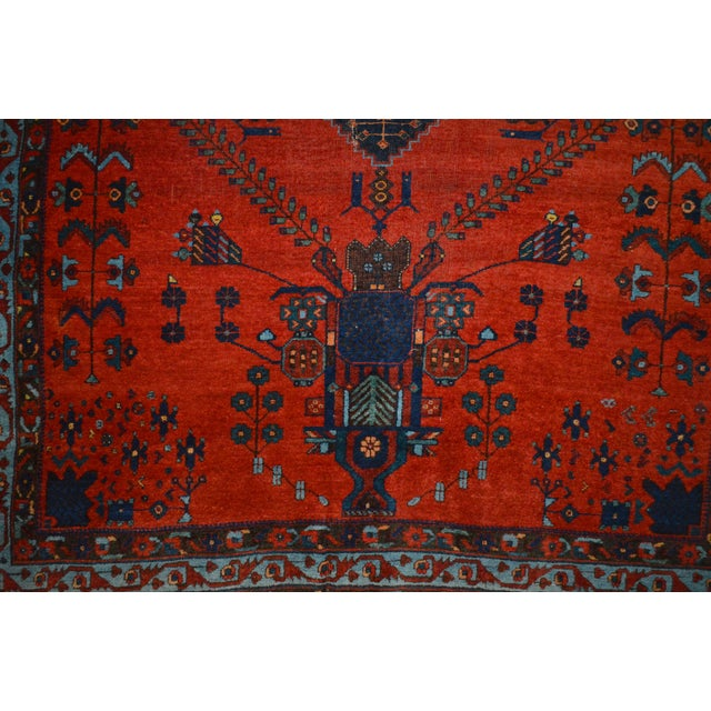 "Antique Persian Afshar Rug - 4'6"" x 5'5"" - Image 7 of 8"