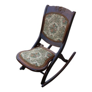 Traditional Cottage Folding Rocking Chair
