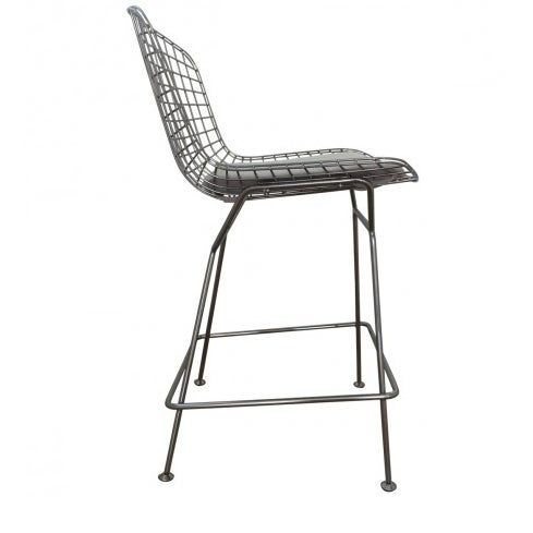 Bertoia-Style Wire Counter Stool - 5 Available - Image 4 of 7