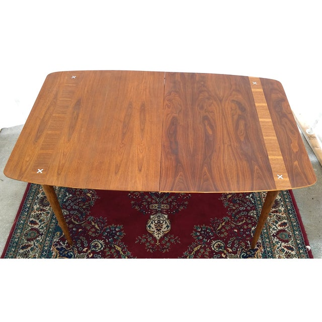 Refinished Vintage Mid Century Modern Dining Table - Image 3 of 7