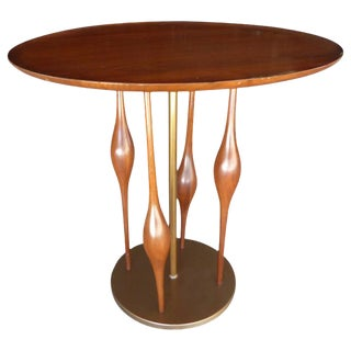 Mode Line Mahogany Side Table Attributed to Adrian Pearsall C. 1950's
