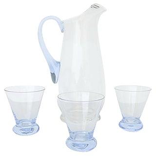 Vintage Glass Juice Service - Set of 4