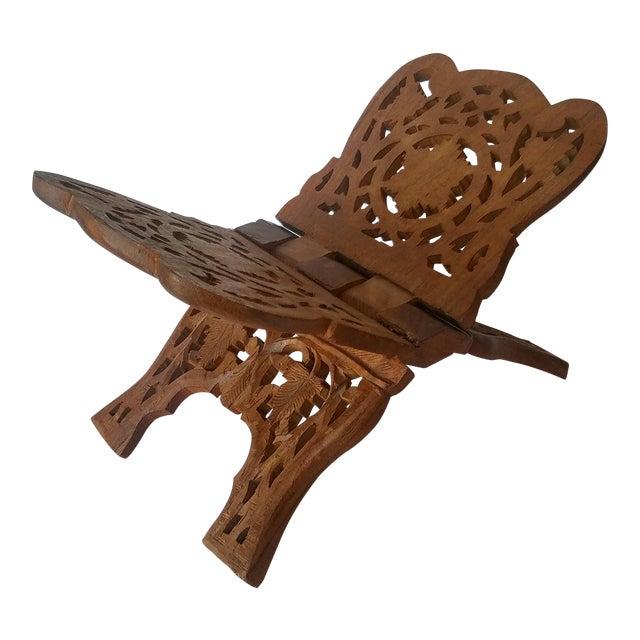 Vintage Carved Wood Book Stand - Image 1 of 7