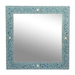 Image of Inlay Blue Mirror Frame