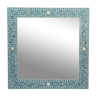 Inlay Blue Mirror Frame